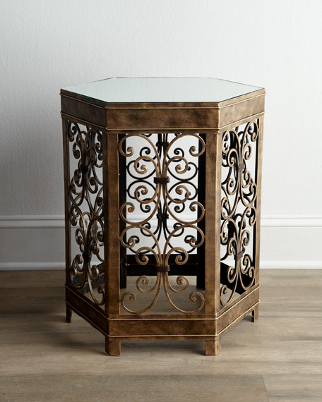 """""""Hex Scroll"""" Side Table"""