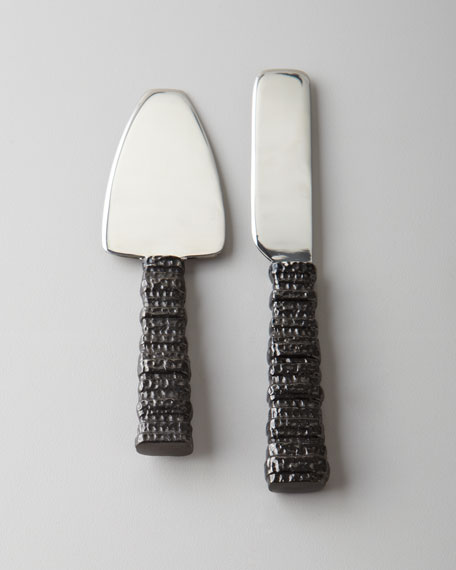 Two-Piece Gotham Cheese Knife Set