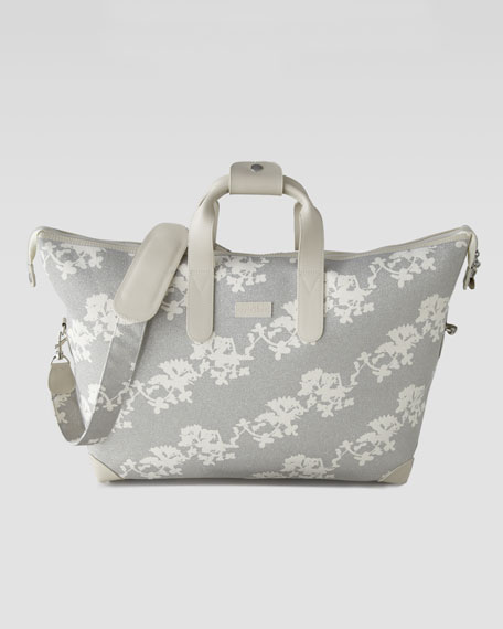 Japanese-Print Overnight Bag
