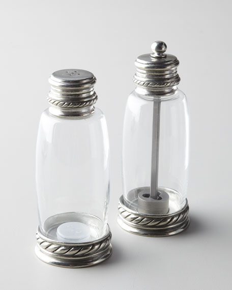 Pewter-Accented Salt & Pepper Set