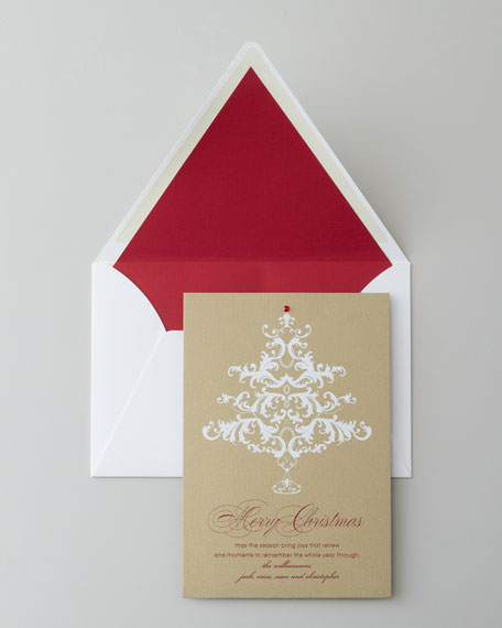 "50 ""Elegant Tree"" Christmas Cards"