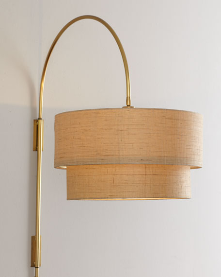 """Jenson"" Brass Wall Lamp"