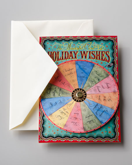 """""""Holiday Wishes"""" Spinner Card"""