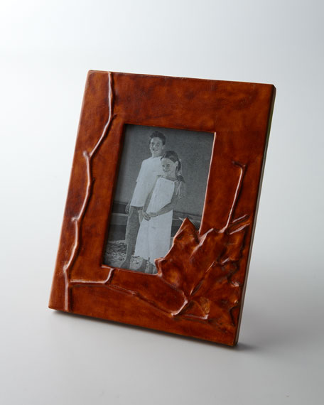 """Leather Leaf 4"""" x 6"""" Picture Frame"""