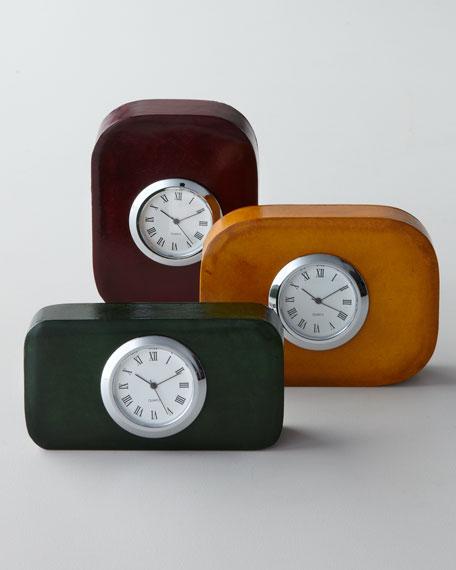 Leather Desk Clock
