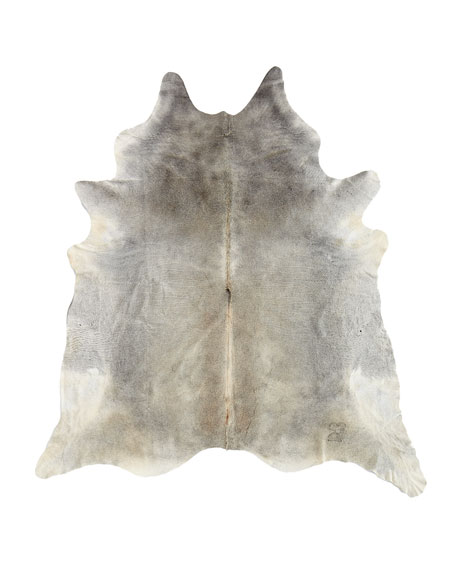 Gris-gray Hairhide Rug, 6' x 7'