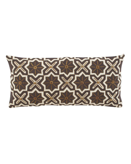 Long Ivory & Brown Pillow
