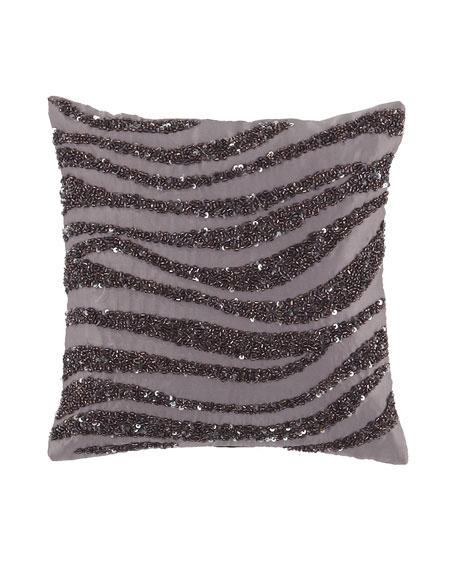"""""""Crystal Wave"""" 9""""Sq. Pillow, Haze"""