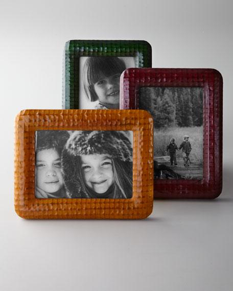 Pop Color Leather Frame