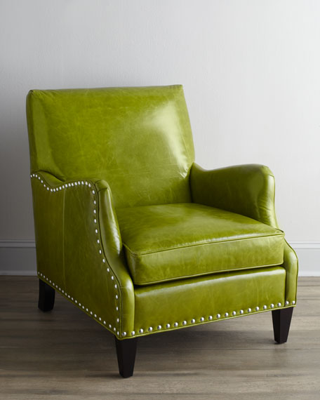 """Alden"" Leather Chair"
