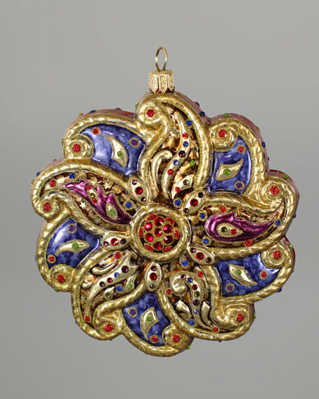 """Paisley"" Glass Christmas Ornament"