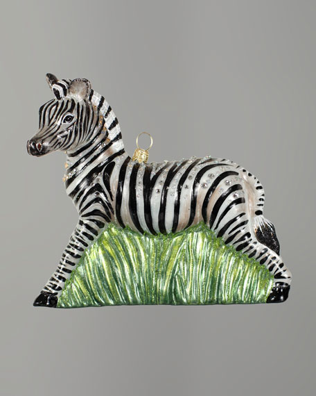 """Zebra"" Christmas Ornament"