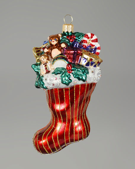 """""""Stocking with Toys"""" Christmas Ornament"""