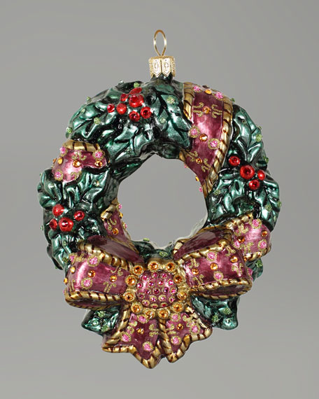 """Holly Wreath"" Christmas Ornament"
