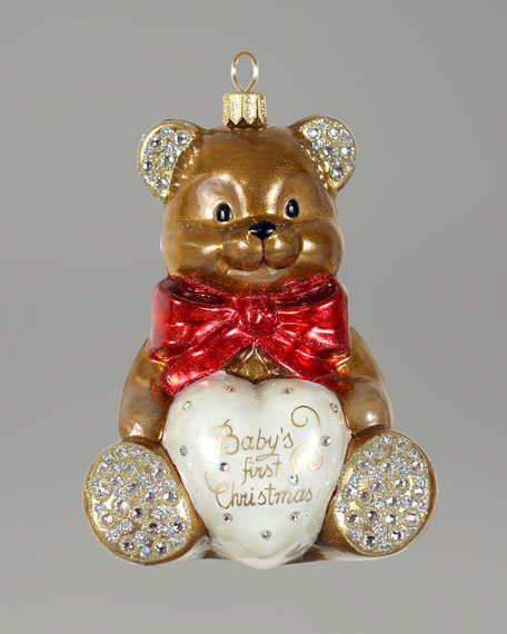 """Baby's First Christmas"" Teddy Bear Ornament"