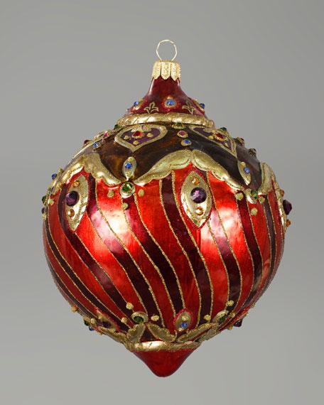 """Filigree"" Glass Ball Christmas Ornament"