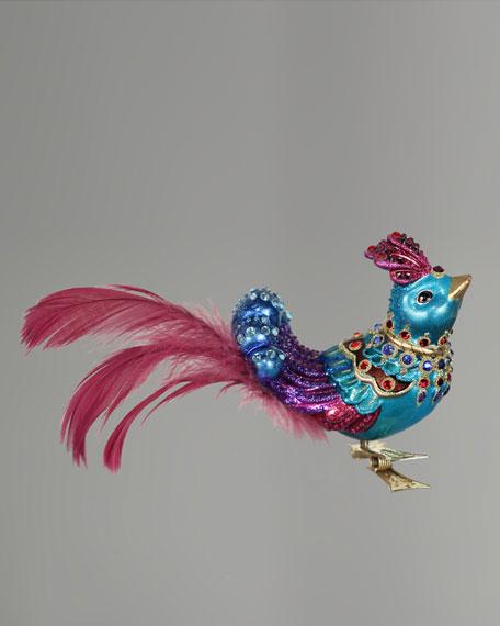"""Exotic Bird"" Clip Christmas Ornament"