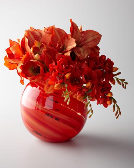 """""""Orange Sherbet"""" Faux Floral Arrangement"""