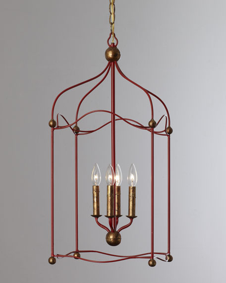 "Red ""Carousel"" Lantern Pendant Light"