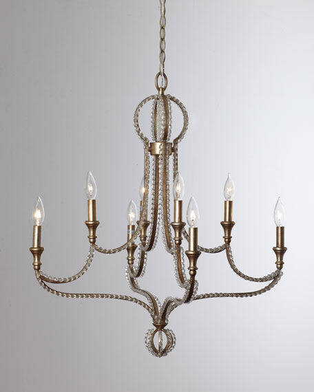 "Beaded ""Garland"" Chandelier"