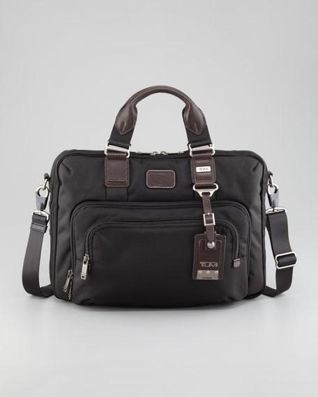 Frye Logan Antiqued Flap Briefcase