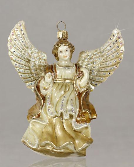 """Angel"" Glass Christmas Ornament"