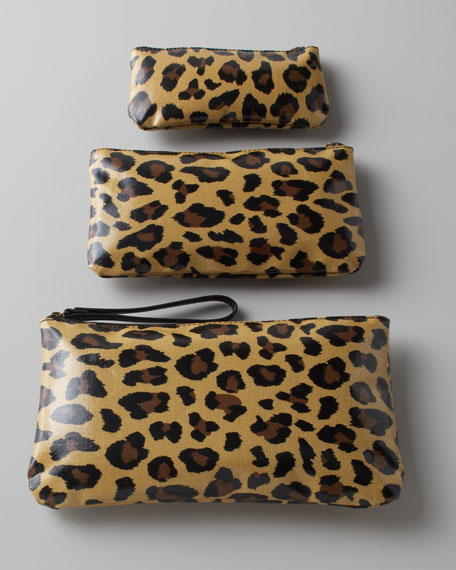 """Three """"Leopard"""" Cosmetic Bags"""