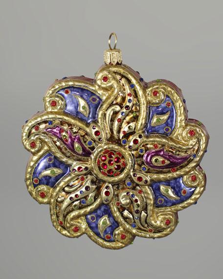"""""""Paisley"""" Glass Christmas Ornament"""