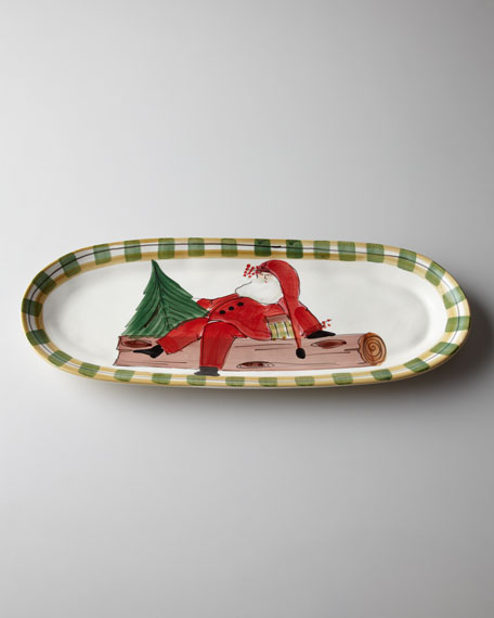 """Old St. Nick"" Oval Platter"