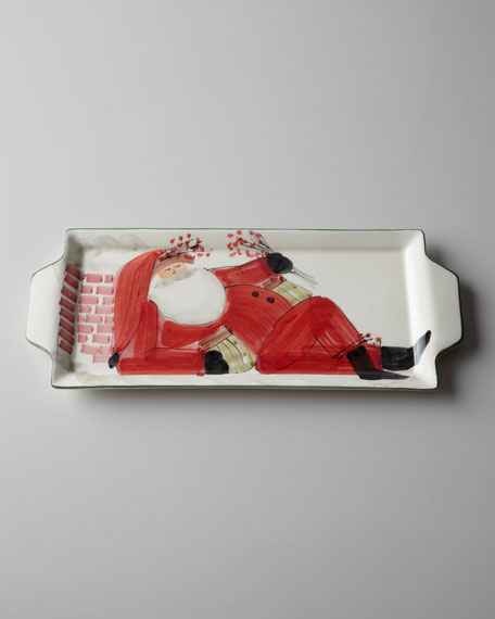 """Old St. Nick"" Handled Rectangular Platter"