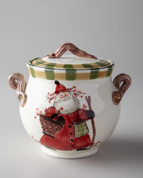 """Old St. Nick"" Biscotti Jar"