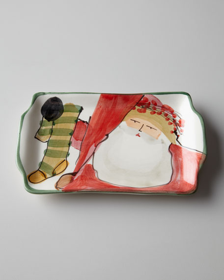 """Old St. Nick"" Rectangular Plate"