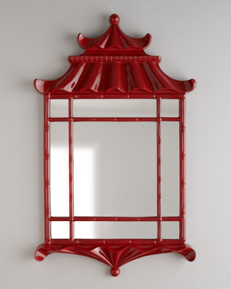 "Red ""Pagoda"" Mirror"