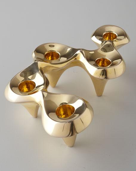 Brass Undulating Candleholder