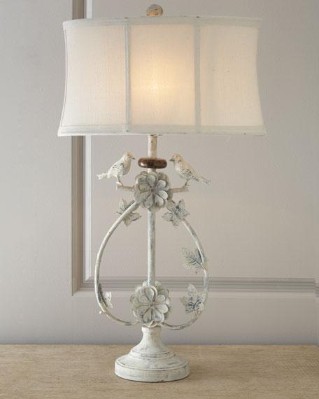 "Ivory ""Bird"" Lamp"