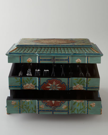 """Tribal Pagoda"" Flatware Chest"