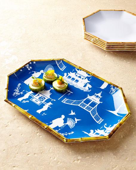 Chinoiserie Melamine Serving Platter