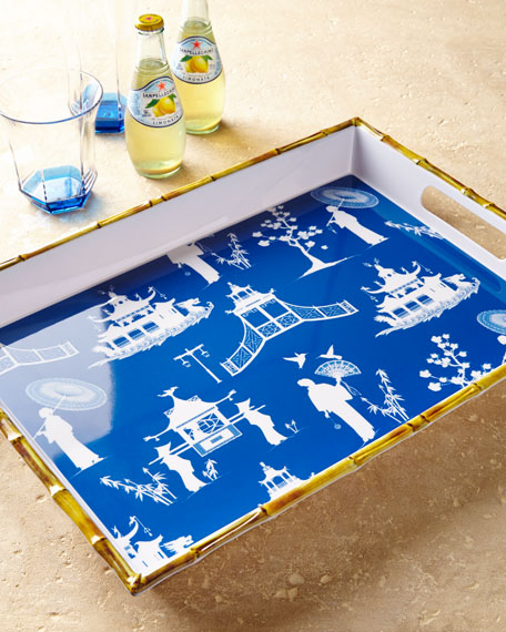 Chinoiserie Melamine Serving Tray
