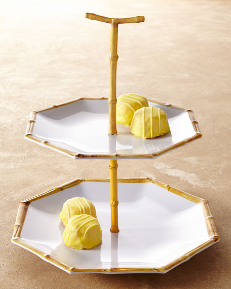 Chinoiserie Two-Tiered Melamine Server/Cupcake Stand
