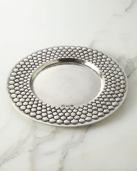 """Medieval"" Pewter Charger Plate"