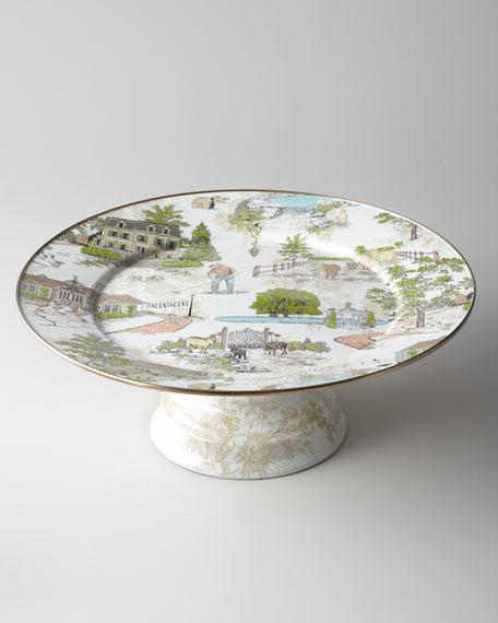 Aurora Large Pedestal Platter