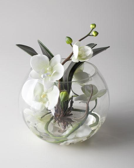 """""""Sunken Orchid"""" Faux Floral Arrangement"""