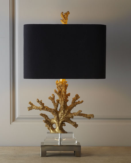 Gold Coral Table Lamp Neiman Marcus