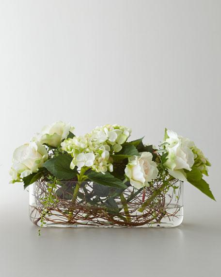 """""""Entwined Roses"""" Faux Floral Arrangement"""