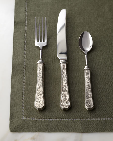 "5-Piece ""Classic"" Pewter Flatware Place Setting"
