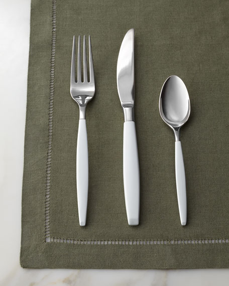 "Five-Piece White ""West 4th Street"" Flatware Place Setting"