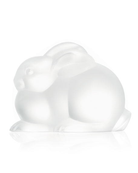 Lalique Resting Rabbit Sculpture