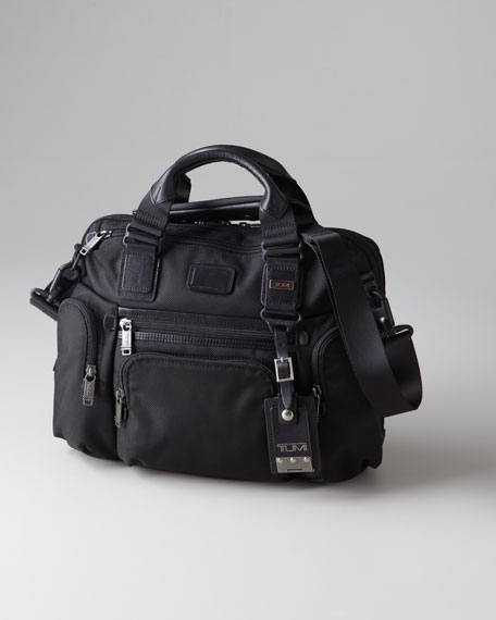 """Alpha Bravo Brooks"" Slim Briefcase"