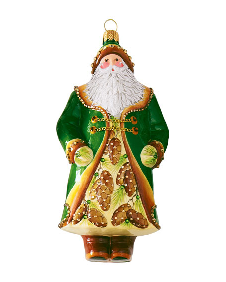 """On the Charles"" Santa Ornament"