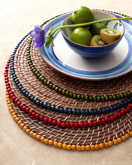 Four Beaded Placemats